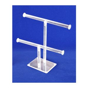 2-TIER NECKLACE AND BRACELET BAR DISPLAY - ACRYLIC