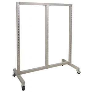 Slotted System Triple Displayer with Casters