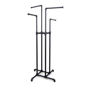 Height Adjustable Four Way Rack - Matte Black