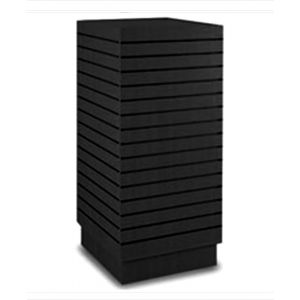 Slatwall Cubic Tower, Four-Way Cube Slatwall Tower, Durable Black Finish