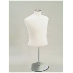 MALE JERSEY COVERED HALF BODY MANNEQUIN - METAL STAND