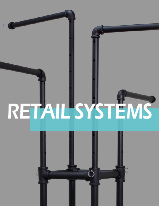 Retail Systems for Sale - Pipe Rack, Slotted, and HL Ladder
