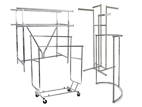 Apparel Racks and Accessories. We offer Heavy Duty and Z-Rack rolling racks, Two-Way Racks and much more at www.StoreDisplays.com!